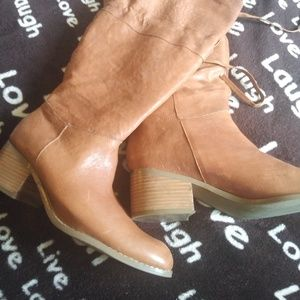 Jessica Simpson Camel color genuine leather boot